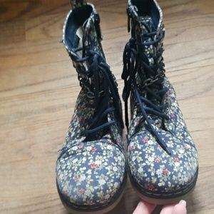 Link Shoes - Girls Floral Boots